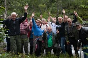 Deltakarar på vassdragstreff 16.-17.8.2013
